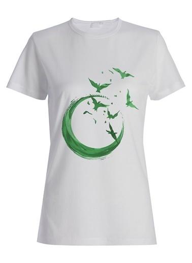 Yeşilay Dilek Hanif Tişört Beyaz